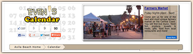 Avila Beach Events Calendar
