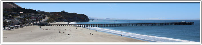 Downtown Avila Beach and the pier