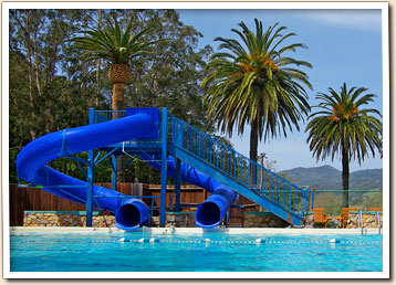 Waterslides At The Avila Hot Springs Pool