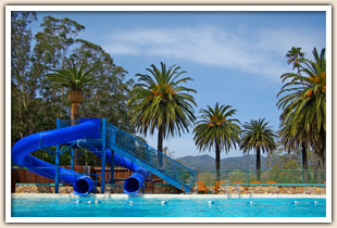 Hot springs pool & waterslides