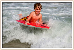 Kid body boarding