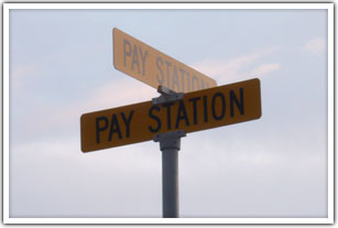 Pay parking lot