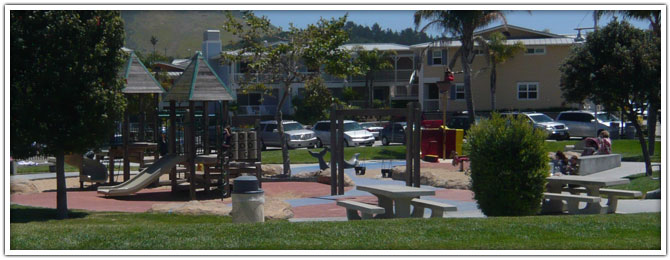 The pirate themed park in Avila Beach