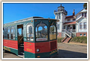 Trolley tour of the lighthouse