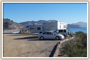 Nobi Point camping in Port San Luis Harbor