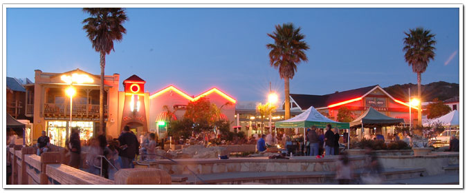 Avila Beach Promenade At Night