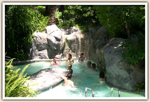 group hot tub at Sycamore Springs