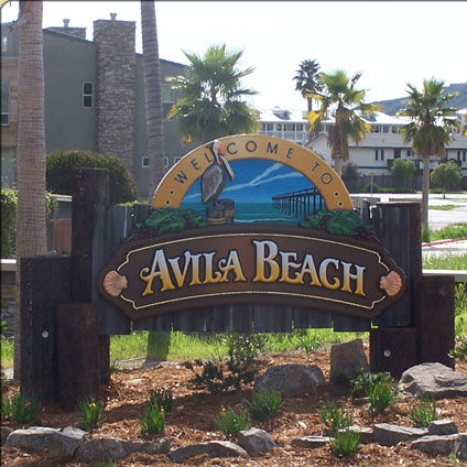 Avila Beach Welcome Sign
