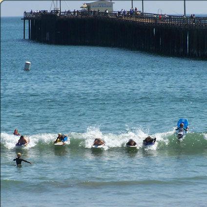 Avila Beach Welcome Sign Kids Body Boarding